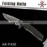 Best Camping Knife Bearing Switch For Folding 7Cr17 Stone Wash Coated Blade Outdoor Tactical Hunting Knives