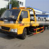factory sale good quality JMC 3 ton to 5 ton sliding flatbed recovery trucks