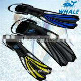 Scuba-diving fin with adjust strap for deeper waters