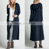 Long Length Duster Sweater Ladies Extra Long Sweep Style Blouse Clothing Navy Hooded Sweaters For Women Cardigan