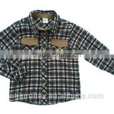 men/boy cotton yarn dye flannel shirt,long sleeve shirt,winter shirt ,embroidery pocket shirt