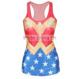 wholesale custom dye running singlets tops