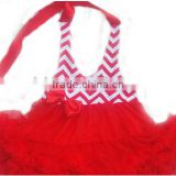 Toddler Babies Fluffy Red Chiffon Tulle Pettiskirts Backless Girls Tutu Dresses