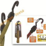 3x Stronger Heavy Duty Flat Bungee Cord with Injection Steel Hooks