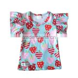 kids clothes baby import baby clothes apple and strawberry pattern cotton knitted t-shirts baby clothes factory