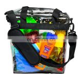 Deluxe Clear Tote Bag NFL Stadium Approved Removable Shoulder Strap Privacy Pouch