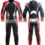 High profile leather motorbike suit