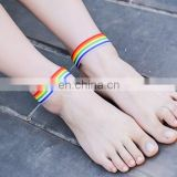Colorful Ribbon Anklet Nude Shoes Beach Yoga Foot Jewelry Summer Anklets