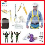 high quality safety belt full body harness with lanyard