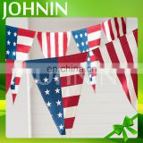 Wholesale high quality customized decoration pennant triangle flag outdoor bunting