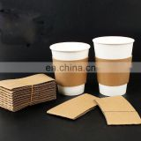 Custom printed paper coffe cup with sleeve