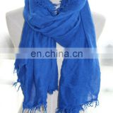 Factory directly, wholesale color option plain viscose scarf with tassel maxi shawl hijab wrap (SDV-001col.A01#)