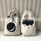 Drawstring Hotel Cotton Laundry Bag Cotton Clothes Washing Cleaning Bag