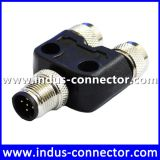 B code 5 pin male to female t connector ip67 ip68 protection class shielded