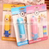 Automatic Electric Erasers Minions design colorful electri pencil erasers