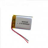 Hot Sale 3.7 V 600Mah 603040 3.7V Rechargeable Lithium Polymer Battery
