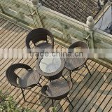 rattan tempered glass table set balcony chair patio furniture wicker chair