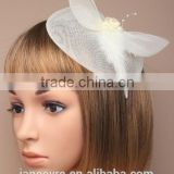 100% Sinamay Fabric Fascinator Hat For Wedding/Party/Chuch