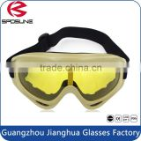 Outdoor sports usage and yellow PC lenses material biking sunglasses guangzhou custom motocross sport goggles