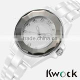 The new 2014 female white ceramic watch fashion lady waterproof High quality luxury Brand roman digital clock watch
