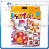 Mini Qute DIY Ironing Hama Perler Beans 3D Jigsaw house pattern Model building block educational toy (Accept OEM) NO.BT-0053A-1