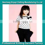 OEM Cute Girls' Cotton T-Shirt and Shorts With Printing / Alibaba China Supplier Made in China