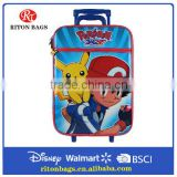 Customized Pokemon Cool School Trolley Bags Luggage Bag For Boys