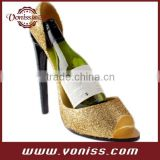 High Heel Shoe Wine Bottle Holder Stylish Holds One 750ml Wine Bottle,Womens Shoe Sexy Resin Wild Eye Wine Bottle Holder