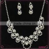 Double-Layer Imitation Pearl Beads Necklace Drop Handmade Jewelry Set