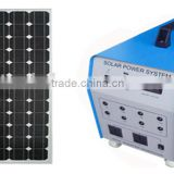 (65AH) Portable solar light system HTD-PSL100W with LED lights hot