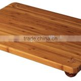 Eco-Friendly Bamboo Cork Footed Serving Board For Restaurant