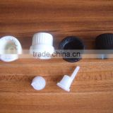 High-grade Black Or White Cap Bottle Stopper Glass Bottle Cover with Inner Stopper Wholesale
