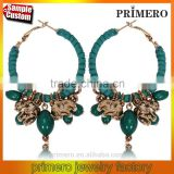 Elephant Fashion Big Circle Punk Style Bohemia Ethnic Earring Jewelry Wholesale