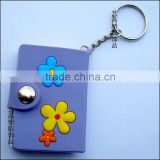 Personalized soft PVC 3D notebook cover with keyring