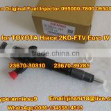 Denso Common Rail Injector 095000-7800 095000-7801 for TOYOTA Hiace 2KD-FTV Euro IV 23670-30310 23670-39285