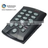 Professional mini black call center RJ11 dialpad telephone with headset port CHT-800