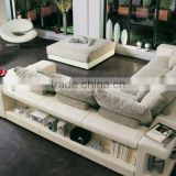 New Model Sofa Sets Corner Sofa Modern Design Leather Sofa With Tea Table Ottoman China Furniture Sofa 9006-34