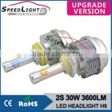 Speedlight Upgrade Version 30W 3600LM 2S All In One H8/H9/H11 LED Headlight High Power Car LED Lamp