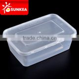 Disposable PP plastic food containers with lids