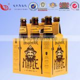 6 Bottles Paper Beer Box,Paper Beer Packing,Corrugated Wine Box,2/4/6 Pack Beer Box Wine Box