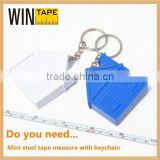 13 year New Design high quality custom Logo Mini oem custom tape measure/measure tape with key chain under 1dollar