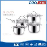 Belly shape big korean cooking stainless steel sizes stock pot                                                                         Quality Choice