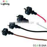 Australian colorful braided wire power cord plugs for table light