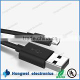 For android mobile phone USB 2.0 type A to Micro USB type B male to male power charging data cable