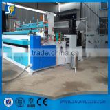 High efficiency toilet paper rewinding slitting machinery/toilet paper product processing machine/small rolls making machine