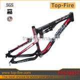 Newest Fashionable style MTB frame full suspension carbon mountain bike frame,UD glossy with logo TOPMOST on frame