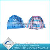 2016 Hot sale print polyester safety Children swimming cap