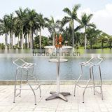 Xavier vintage bar chair and stainless steel table