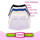 2016 high quality children's hot sale baby clothing kids cotton shorts solid color unisex baby shorts