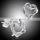 fashion silver jhumka earring designs new model heart earrings screw back
